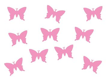 10X Patch Hotfix Iron On Motif Miniblings 25mm Butterfly Velvety Flock – Bild 3