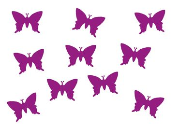 10X Patch Hotfix Iron On Motif Miniblings 25mm Butterfly Velvety Flock – Bild 1