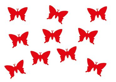 10X Patch Hotfix Iron On Motif Miniblings 25mm Butterfly Velvety Flock – Bild 4