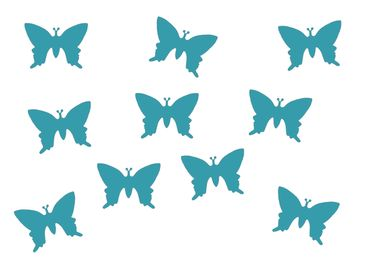 10X Patch Hotfix Iron On Motif Miniblings 25mm Butterfly Velvety Flock – Bild 2