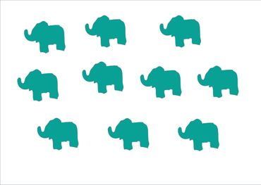 10X Patch Hotfix Iron On Motif Miniblings 25mm Glossy Gloss Elephant – Bild 15