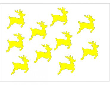 10X Patch Hotfix Iron On Motif Miniblings 28mm Glossy Gloss Deer Fawn  – Bild 4
