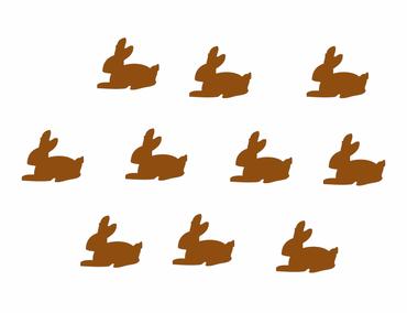 10X Patch Hotfix Iron On Motif Bunny Patch Hotfix Miniblings 25mm Glossy Gloss Rabbit – Bild 2