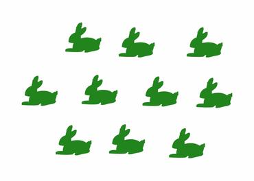 10X Patch Hotfix Iron On Motif Bunny Patch Hotfix Miniblings 25mm Glossy Gloss Rabbit – Bild 6