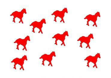 10x Bügelbild Bügelbilder Aufnäher Patch Miniblings 25mm GLATT Pferd Pony Pferde – Bild 10