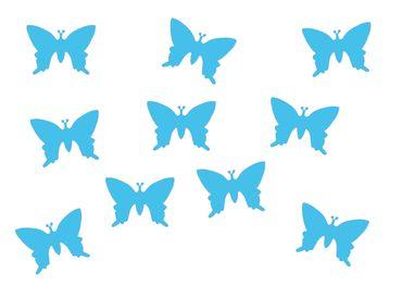 10x Bügelbild Bügelbilder Aufnäher Patch Miniblings 25mm GLATT Schmetterling – Bild 7