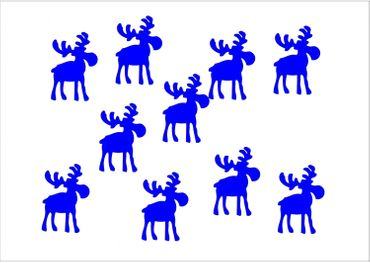 10X Patch Hotfix Iron On Motif Miniblings 32mm Velvety Flock Elk Reindeer – Bild 2