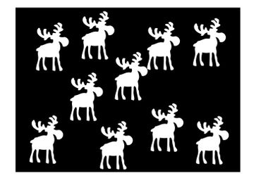 10X Patch Hotfix Iron On Motif Miniblings 32mm Velvety Flock Elk Reindeer – Bild 13
