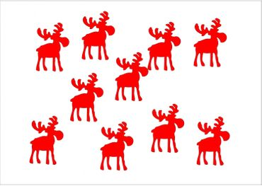10X Patch Hotfix Iron On Motif Miniblings 32mm Velvety Flock Elk Reindeer – Bild 9