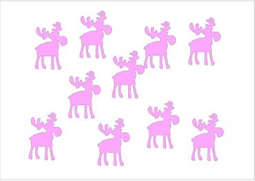 10X Patch Hotfix Iron On Motif Miniblings 32mm Velvety Flock Elk Reindeer – Bild 10