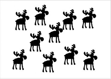 10X Patch Hotfix Iron On Motif Miniblings 32mm Glossy Gloss Elk Reindeer Xmas – Bild 12