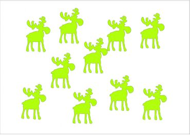 10X Patch Hotfix Iron On Motif Miniblings 32mm Glossy Gloss Elk Reindeer Xmas – Bild 3
