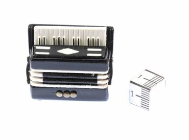 Accordeon Brooch Pin Badge Miniblings Harmonica Piano Accordion Folk Music – Bild 1