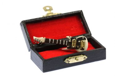 Electric Guitar Brooch Guitaris Band Star Music Miniblings + Box White – Bild 3