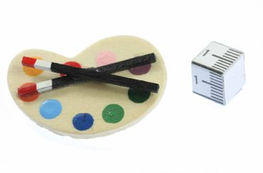 Color Palette Brooch Miniblings Pin Badge Painter Artist Painting Paint Wood – Bild 4