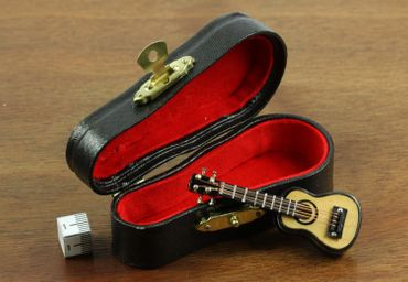 Guitar Guitarist Brooch Pin Badge Miniblings Acoustic + Box – Bild 2