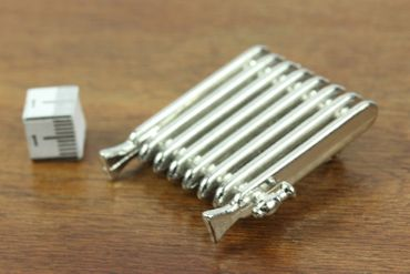 Radiator Brooch Miniblings Heating Winter Miniature Silver Pin – Bild 3