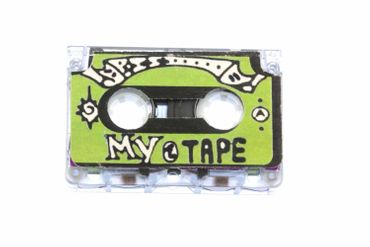 Kassettenbrosche Brosche Kassette MC Tape Mixtape Miniblings Anstecker Pin XL