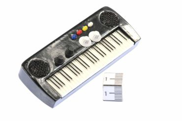 Keyboard Brooch Electric Piano Organ Band Music Star Pianioplayer Miniblings Pin – Bild 1