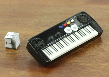 Keyboard Brooch Electric Piano Organ Band Music Star Pianioplayer Miniblings Pin – Bild 2
