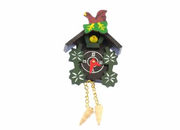 Cuckoo Clock Brooch Black Forest Miniblings Button Oktoberfest Brown Wood XL – Bild 1
