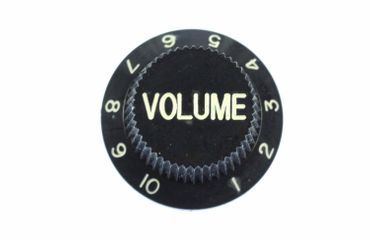 Poti Guitar Volume Brooch Pin Badge Miniblings Volume Knobs Black – Bild 1