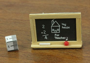 Blackboard School Brooch Teacher Pupil Miniblings Pin Wood – Bild 3