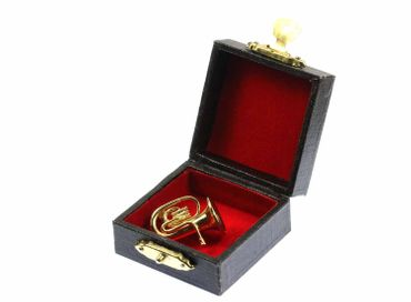 Tuba Brooch Tuba Player Button Pin Gold Plated Tenor Horn Miniblings + Box – Bild 2