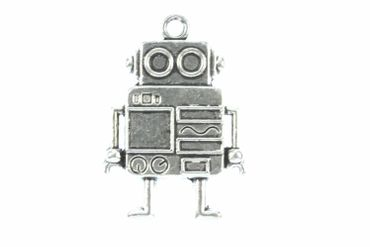Robot Brooch Pin Brooch Button Miniblings Scifi  Science Ficiton  Steampunk Silver XL – Bild 2