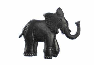 Elephant Brooch Pin Miniblings Button Pin Zoo Elephants Black – Bild 1