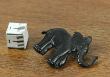 Elephant Brooch Pin Miniblings Button Pin Zoo Elephants Black – Bild 2