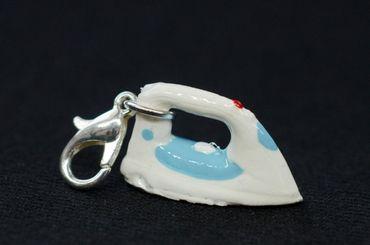 Iron Charm Zipper Pull Pendant For Bracelet  Wristlet Miniblings Ironing White – Bild 1
