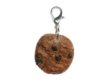 Cookie Biscuit Chocolate Chips Charm Miniblings Brown Handmade Cawaii