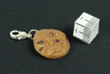 Cookie Biscuit Chocolate Chips Charm Miniblings Brown Handmade Cawaii – Bild 3