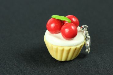 Muffin Cupcake Charm Miniblings Tarts Tart Cherries Cawaii Red