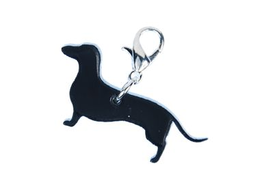 Dachshund Charm For Bracelet Wristlet Dangle Miniblings Dog Saussage Dog Acrylic – Bild 1
