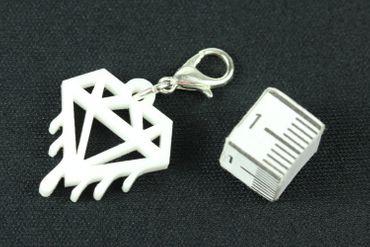 Diamant schmilzt Charm Anhänger Bettelarmband Miniblings Charms Bling Acrylglas – Bild 3