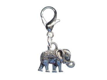Elephant Charm For Bracelet Wristlet Dangle Charms Miniblings Elephants 12mm Silver – Bild 1