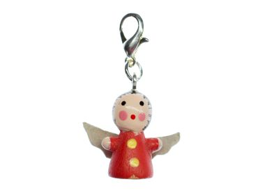 Angel Christmas Wood Xmas Charms Pendant For Bracelet  Wristlet Miniblings Red – Bild 1