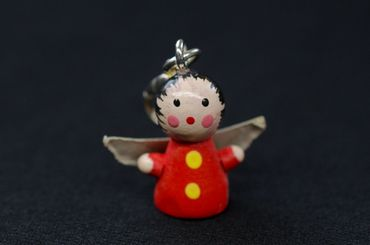 Angel Christmas Wood Xmas Charms Pendant For Bracelet  Wristlet Miniblings Red – Bild 2