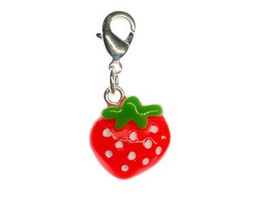 Strawberry Charm For Bracelet Wristlet Dangle Miniblings Charms Strawberry Red Flat