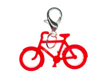 Bicycle Cyclist Charm For Bracelet Wristlet Dangle Charms Miniblings Racing Red Acrylic – Bild 1