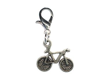 Bike Racing Bike Charm Zipper Pull Pendant For Bracelet  Wristlet Miniblings 15mm