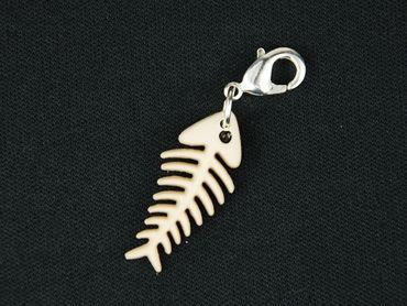Fishbone Charm For Bracelet Wristlet Dangle Miniblings Fish Dog Cawaii White – Bild 4