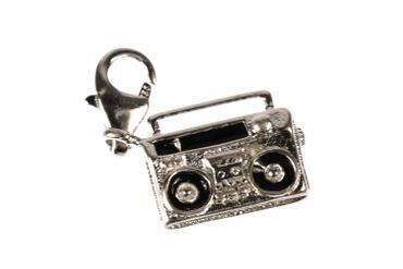 Boombox Music Cassette Player Recorder Charm Miniblings Cassette Recorder Mixtape Music – Bild 2