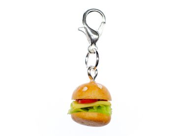 Hamburger Cheeseburger Charm Zipper Pull Anhänger Bettelanhänger Miniblings 12mm – Bild 1