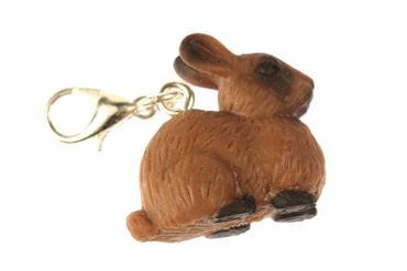 Bunny Rabbit Hare Rabbit Bunny Charm For Bracelet Wristlet Dangle Miniblings Rubber Bunny Brown