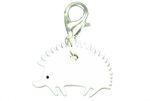 Igel Charm Anhänger Bettelarmband Miniblings Charms Tier weiß Acrylglas 001