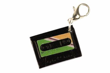Kassette MC Tape Charm Musik Zipper Pull Anhänger Mixtape Band Miniblings grün