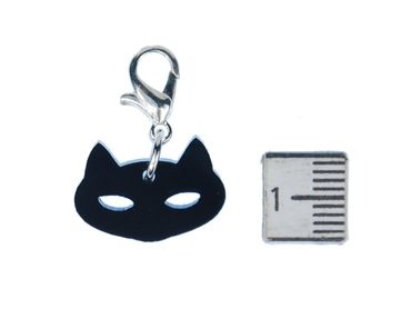 Cat Charm For Bracelet Wristlet Dangle Miniblings Cats Head Cats Head Acrylic – Bild 2